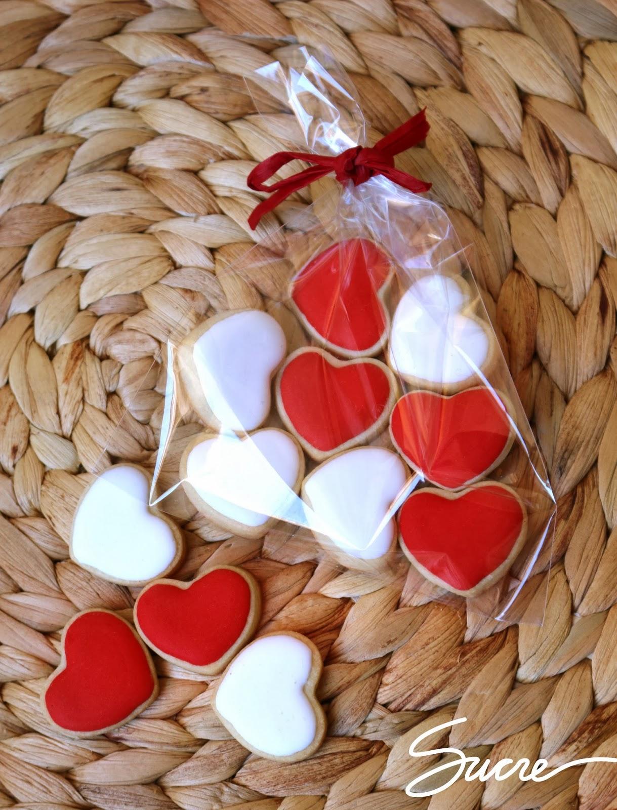 galletas decoradas corazón, galetes decorades cor, heart decorated cookies
