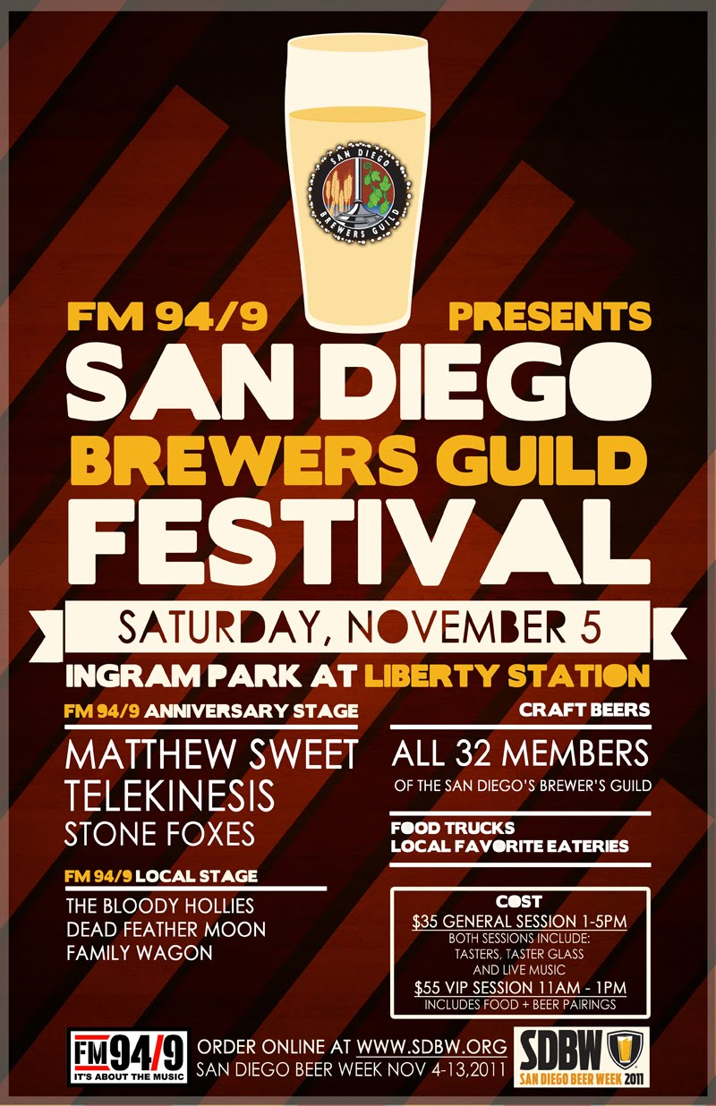 San diego dialed in fm 94 9 anniversary san diego for Craft beer guild san diego