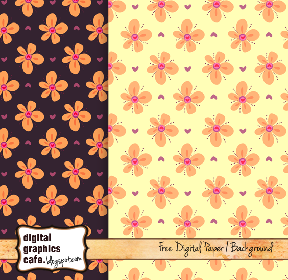 Free Printable Scrapbook Paper Floral Background Digital Graphics