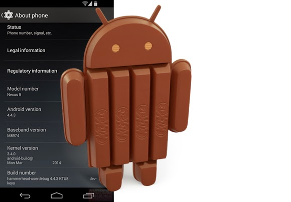 Sprint Nexus 5 gets the Android 4.4.3 update