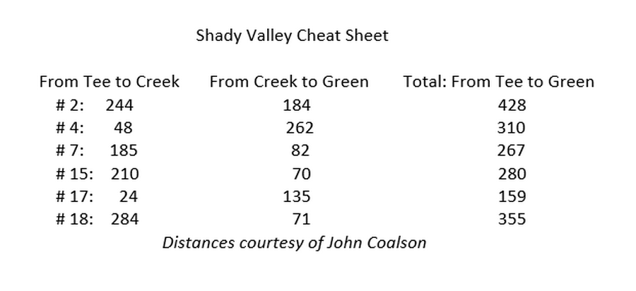 shady valley cheat sheet