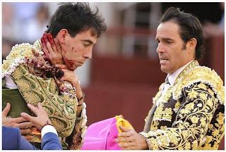 torero herido en el cuello