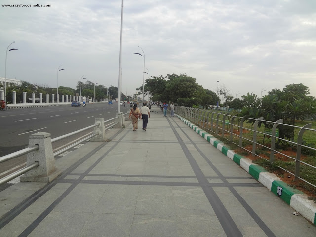 walking near the Marina beach