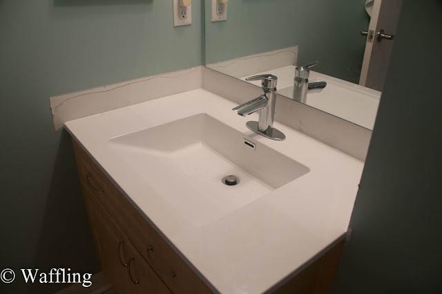Waffling installing a new bathroom countertop for Bathrooms b q installation