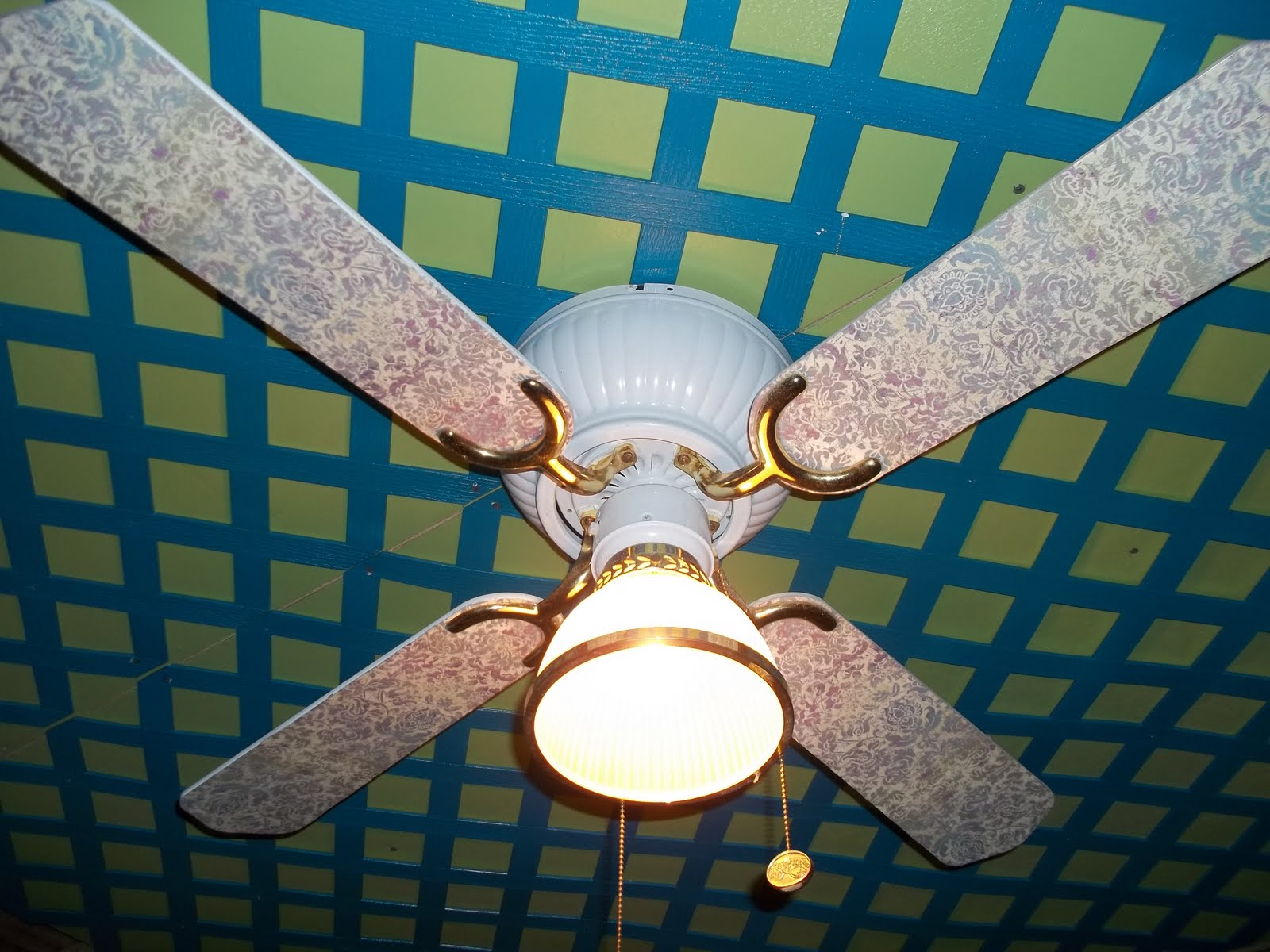 Whimsically Homemade Ceiling Fan Redo