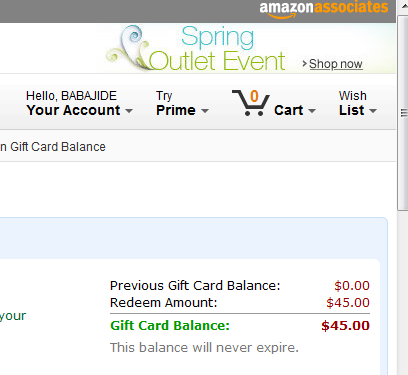 Can i transfer amazon gift card to paypal
