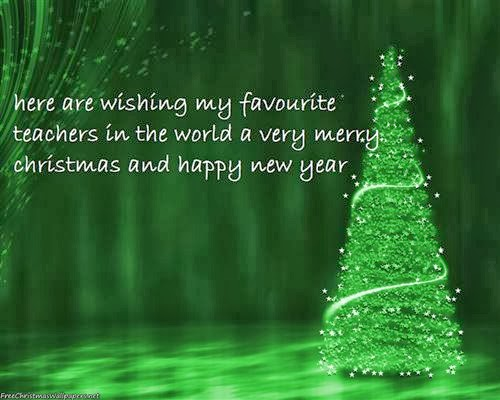 Meaning Christmas Card With Message For Teachers 2013