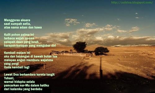 Puisi Renungan : Aku Dan Bayangan oleh Dinullah Rayes