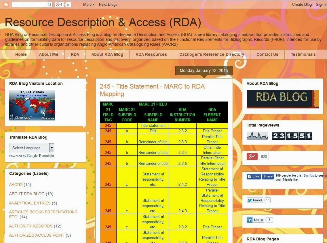 RESOURCE DESCRIPTION & ACCESS (RDA) - cover