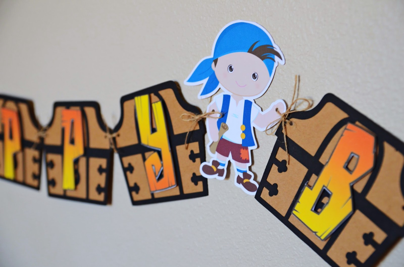 handmade pirate party banner