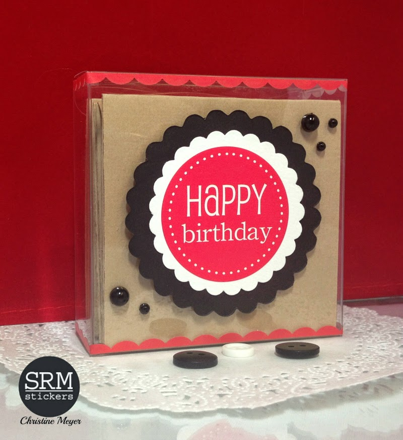 SRM Stickers Blog - Birthday Mini Calendar by Christine - #birthday  #gift #calendar #mini #borders #punched pieces #stitches #stickers #borders