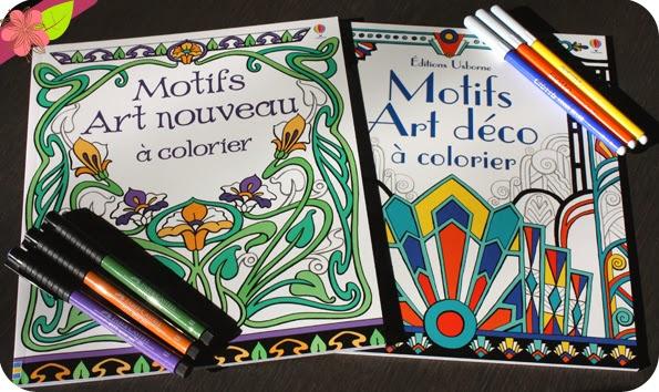 Motifs Art nouveau et Art déco à colorier aux éditions Usborne