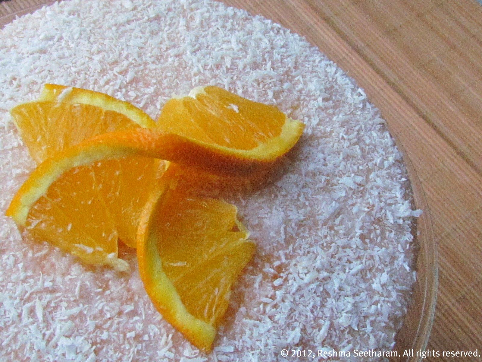 Moist Coconut Orange cake