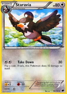 Staravia Plasma Freeze Pokemon Card