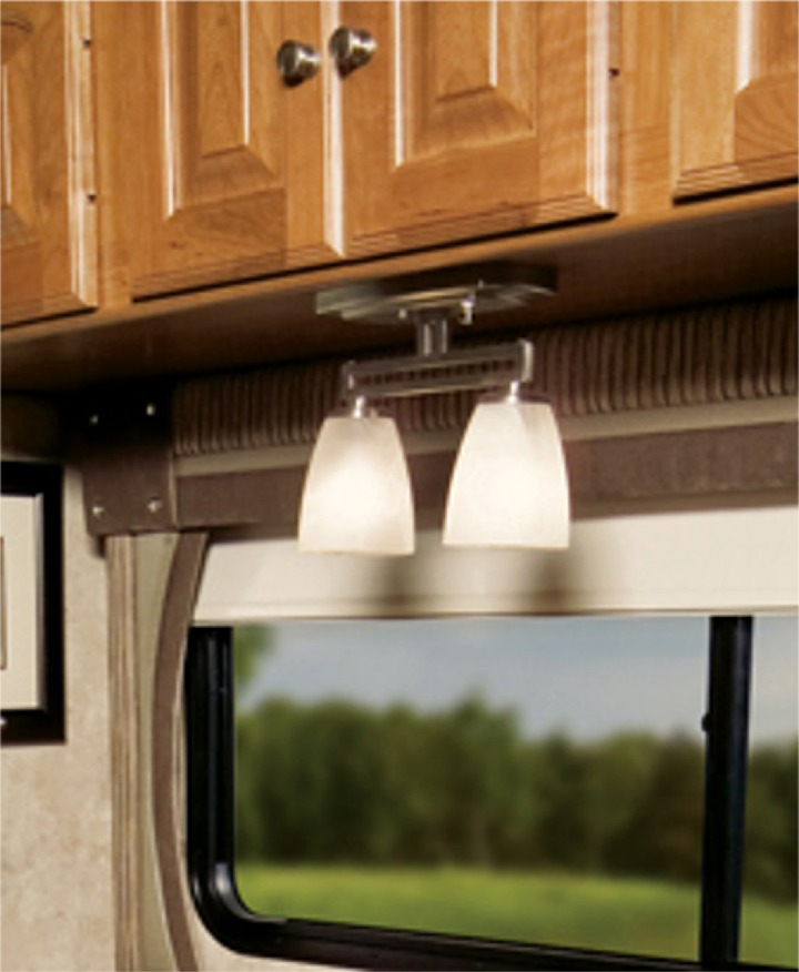 Light Fixture For Vintage Camper: RVupgrades Blog: Upgrading Your RV Interior Lights