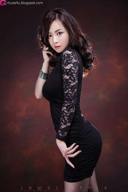 7 Im Ji Hye in Black-very cute asian girl-girlcute4u.blogspot.com