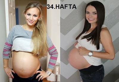 hafta hafta hamilelik, hafta hafta gebelik, gebeliğin 34. haftası, hamilelikte 34. hafta