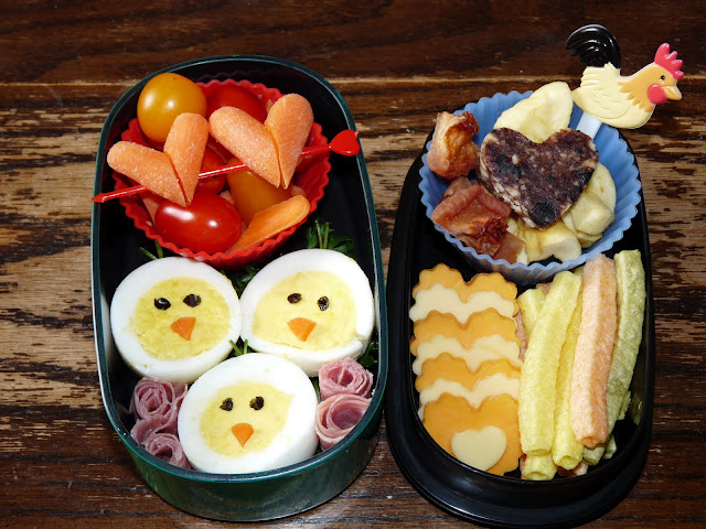 chick egg bento lunch