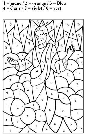 Coloriage Ascension De Jesus