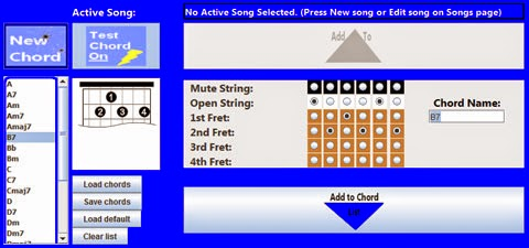 RoboTar: Accessible guitar system. Software screenshot.