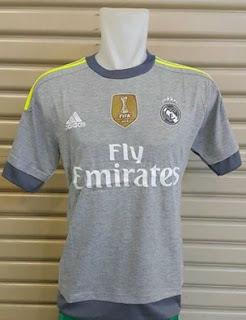 jual online baju bola Jersey real Madrid away terbaru musim depan 2015/2016