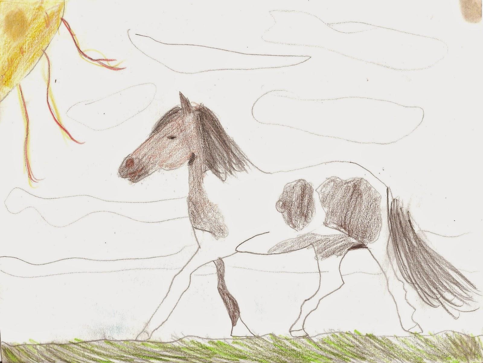 Arti grafiche e creative novembre 2014 for Disegno cavallo per bambini