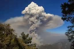 Pyrocomulus Cloud (awan pyrocomulus)