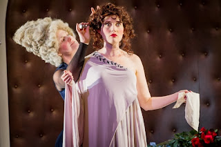 Gilllian Webster as Agrippina, Paula Sides as Poppea, English Touring Opera © Robert Workman