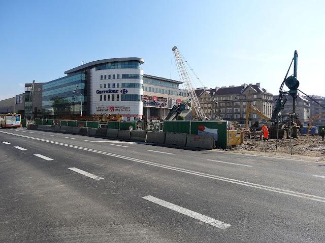 Budowa stacji metra Dworzec Wileński
