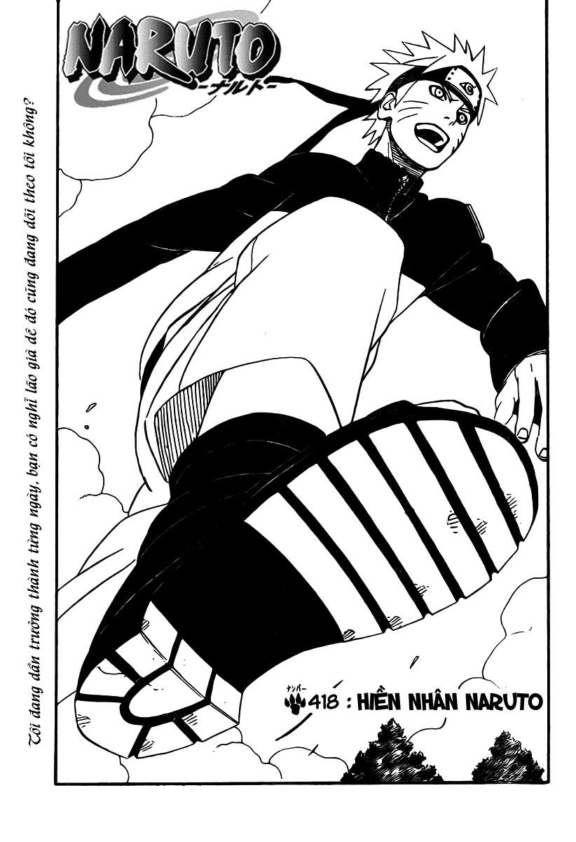 Naruto chap 418 Trang 1 - Mangak.info