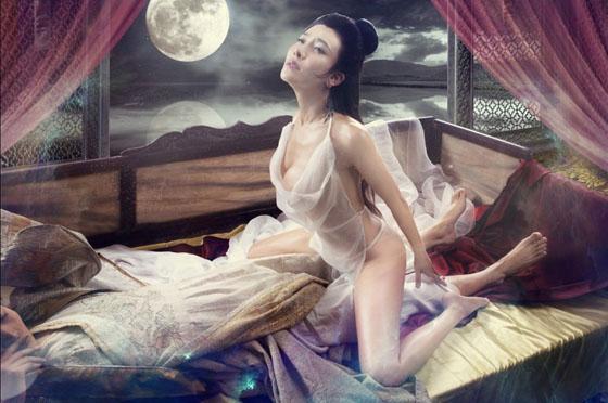 03 Người đẹp phim sex 3D Tân Kim Bình Mai tung ảnh nóng lộ ngực