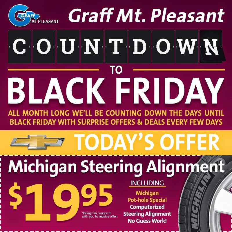 Black Friday at Graff Chevrolet, Buick, GMC, Cadillac in Mt. Pleasant
