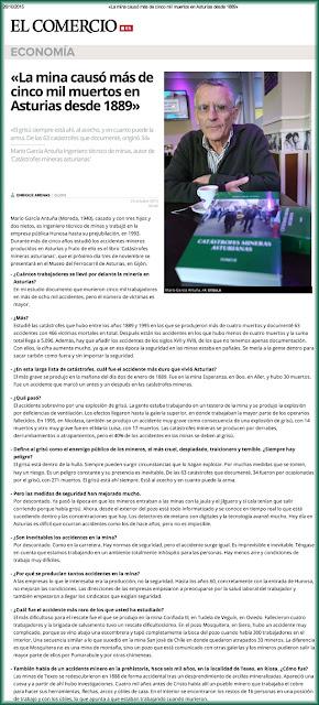 Entrevista a Mario G. Antuña, autor de Catástrofes mineras asturianas