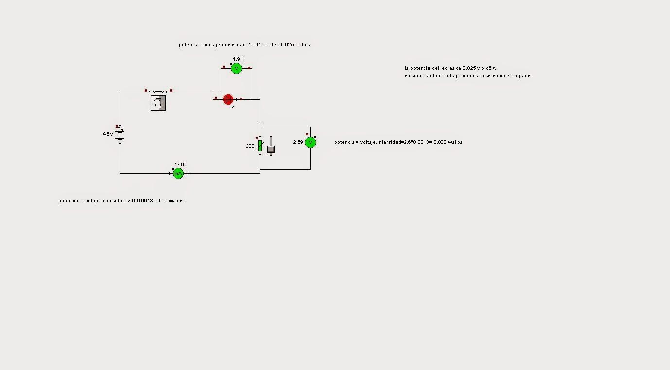 Circuito En Serie : Informatica eso práctica circuito en serie potenciometro y led