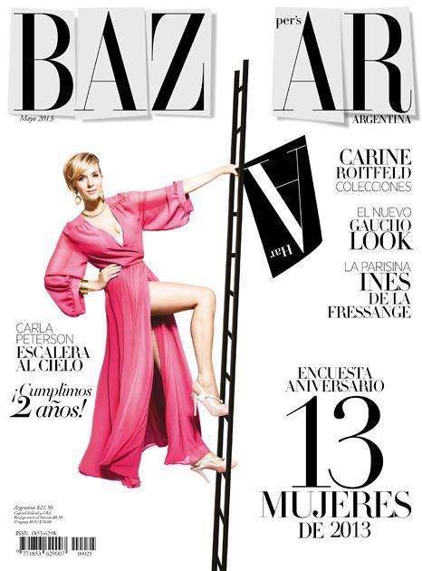 Carla peterson en la portada de harper 39 s bazaar argentina for Bazaar argentina