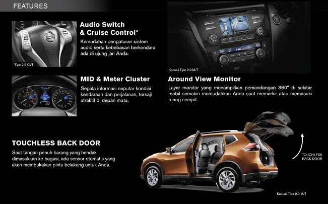 All New Nissan X-Trail Features