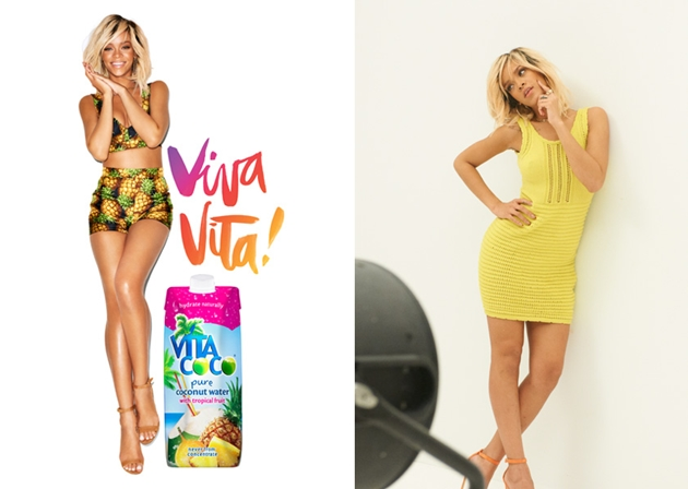 Photos: Rihanna poses for advertising campaign of coconut water photo 2