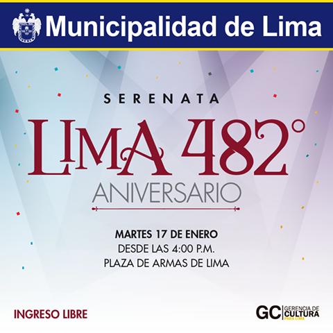 482 aniversario de Lima