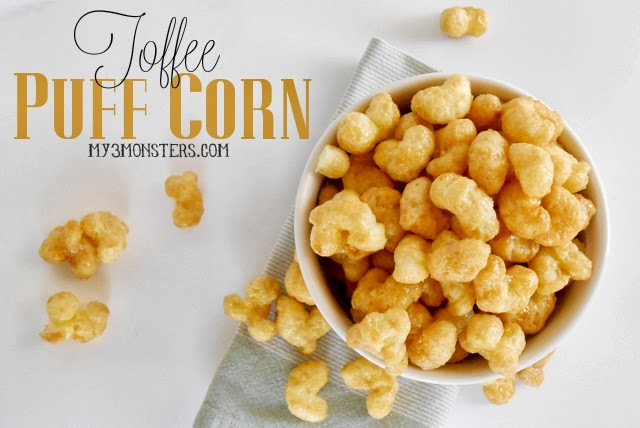 Toffee Puff Corn Recipe at my3monsters.com