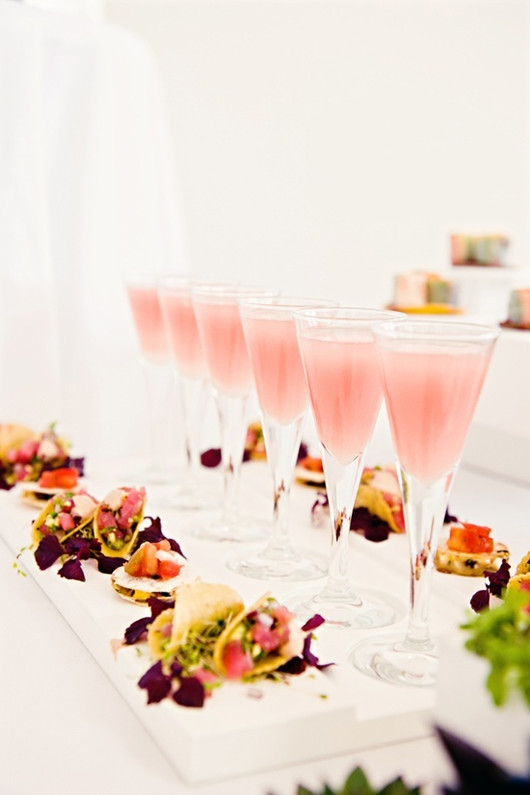 pink wedding ideas wedding food