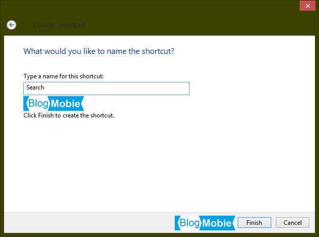 Membuat Shortcut Search Pada Desktop Windows