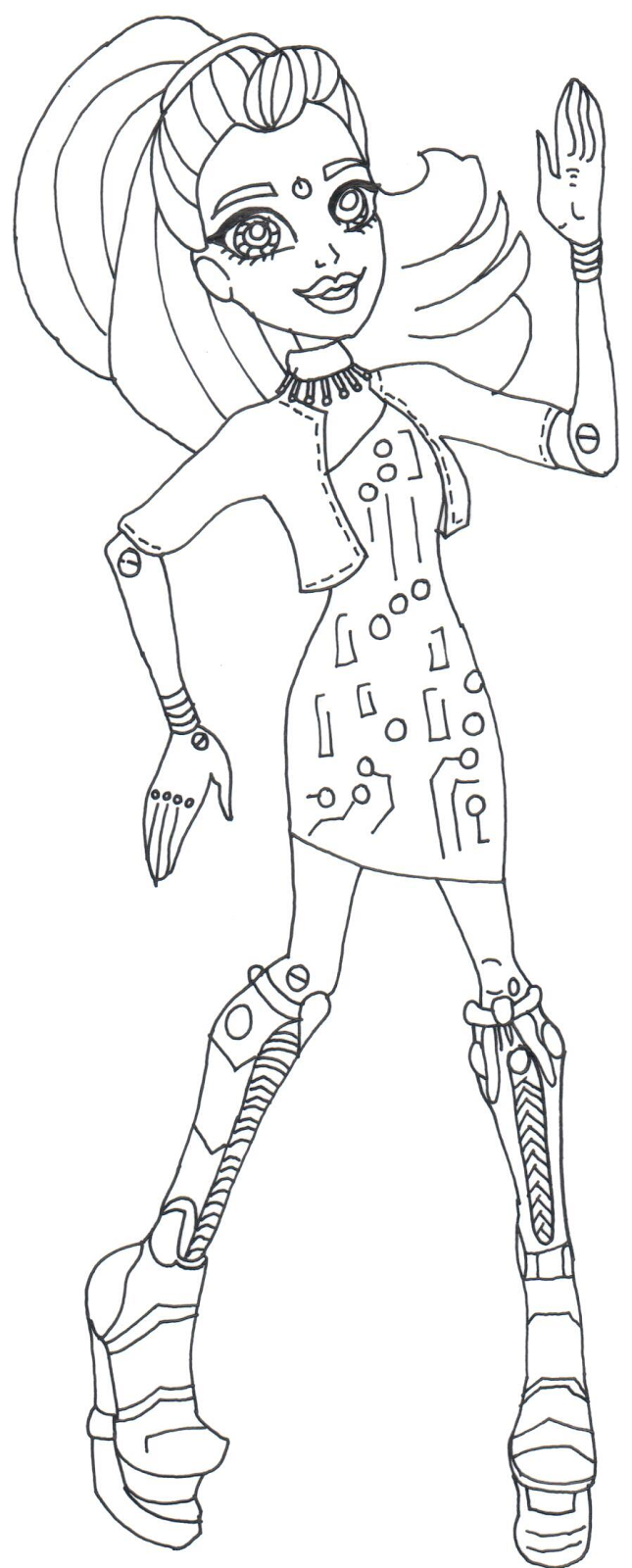 robot monster coloring pages - photo#17