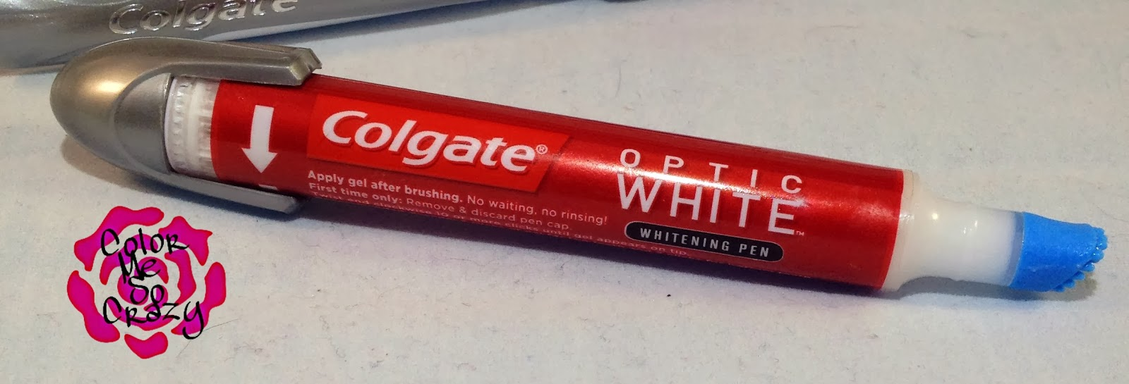 colgate optic white toothbrush built-in whitener
