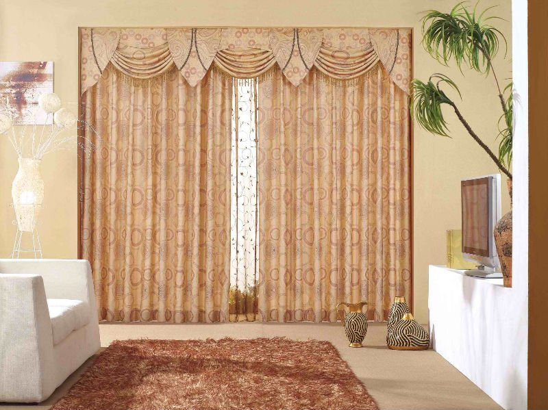 Luxury living room curtains drapes for Living room curtains