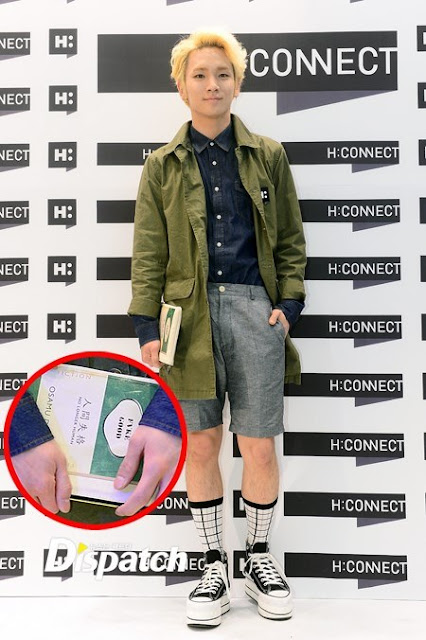 Shinee Key and Minho at H:Connect grand opening 130503-5