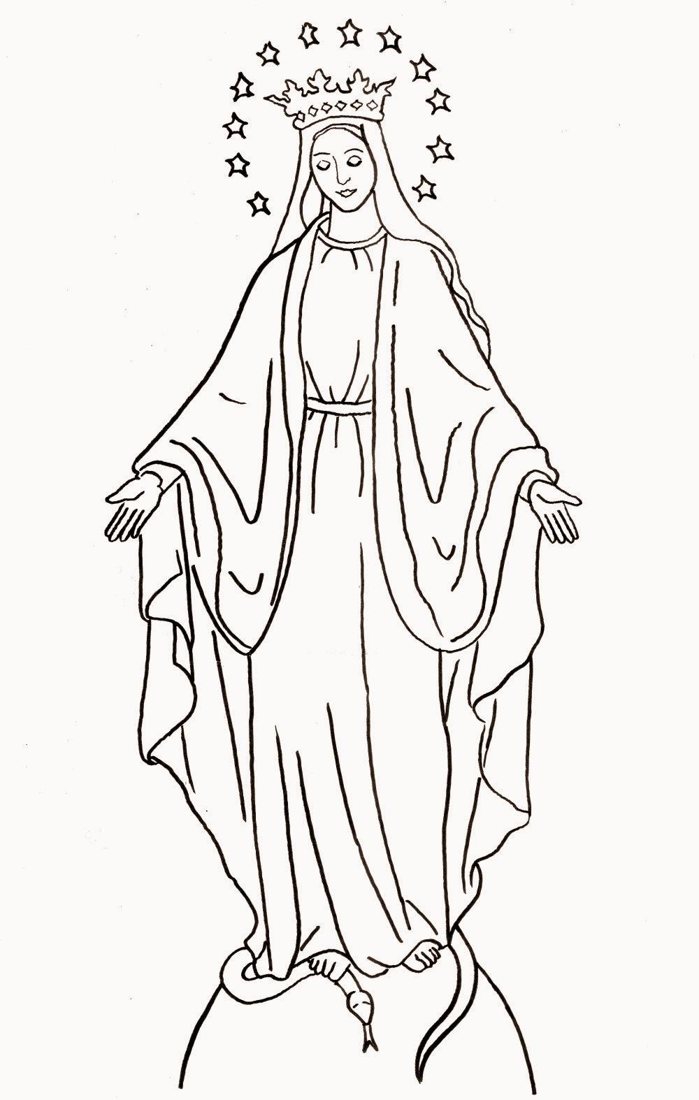 Disegni della madonna da stampare e colorare for Disegni miraculous da colorare