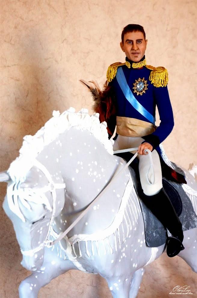 Портретная кукла Александр в образе Александра I
