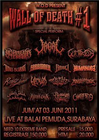 Flayer Wall Of Death  #1 (Need More Band Regist - Surabaya)