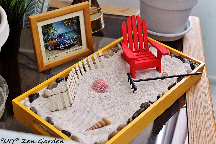 Reduce hair loss by cutting stress. Try meditation or a DIY Zen Garden. #CleaningUntangled #ad