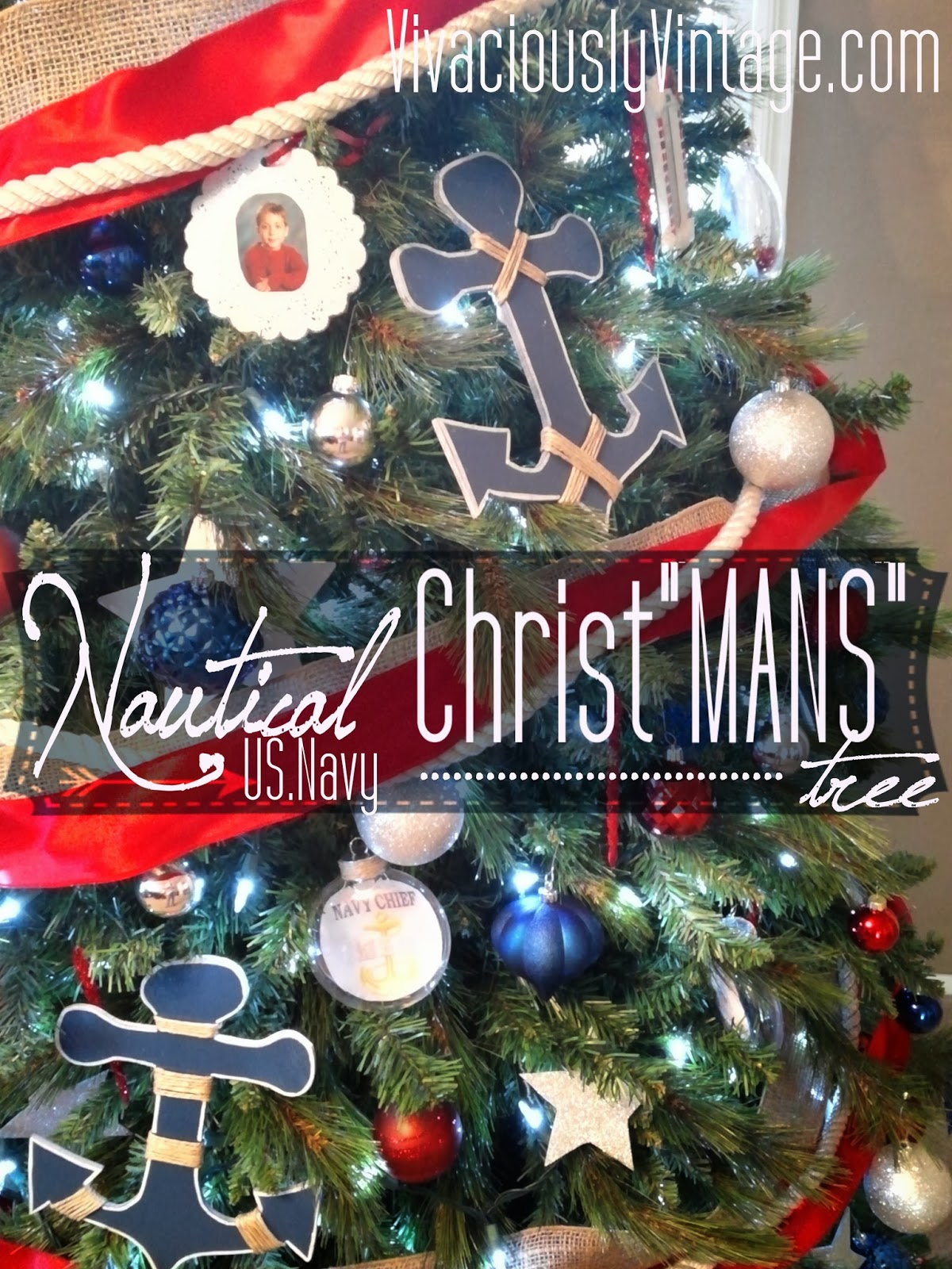 Nautical tree ornaments - One Afternoon I Decided That I Wanted A Second Christmas Tree Then That Idea Evolved Into Having The Second Tree S Theme Be Something That Jeremy Would